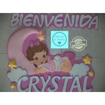 Nombres Decorados Foami Baby Shower Puerta De La Clinica