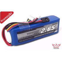 Bateria Lipo Rádio Turnigy 2650mah 3s 1c 11.1v Futaba Jr Etc