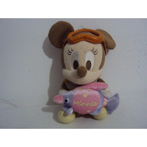 Boneca De Pelúcia Personagem Minnie Bebê Da Disney 21cm 2b