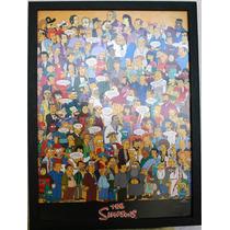 Cuadro Poster Enmarcado De Los Simpson 2007 Original