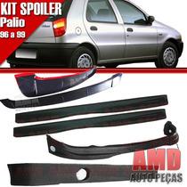 Kit Spoiler Palio 96/99 4 Portas Diant + Lateral C/tela #068