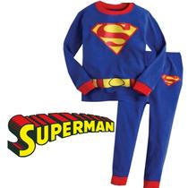 Pijama Niños Superman Tipo Disfraz Gratis Obsequio