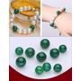 Brazalete, Pulsera En Perlas De Agua Dulce+ Agata Verde