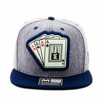 Bone Aba Reta Young Money Cartas Poker Azul Original Barato