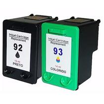 Par De Cartucho Novo 92 93 P/ Impressoras Hp1510 C3180 C4180