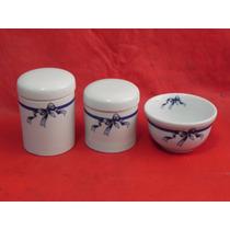 Kit Higiene Porcelana Bebe Porta Algodão Cotonete Presente