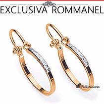 Rommanel Brinco Argola Folheado Ouro Rhodium 520003