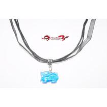 Collar Unisex Dragon Amuleto Proteccion Ojo De Gato Id.519