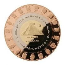 Moneda Medalla Trimetalica Chichen Itza Numeracion Maya