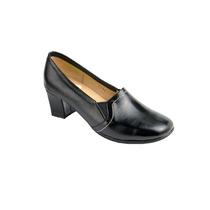 Zapato De Descanso Para Dama Piel Negro Modelo 2292