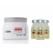Loreal Fiberceutic Mascara Para Cabelos Grossos + 03 Ampolas