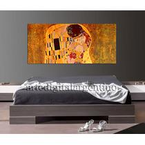 Cuadro El Beso De Klimt En Lienzo De Algodón 140x70