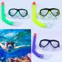 Snorkel + Mascara Buceo Careta Acuático Piscina Niños Adulto