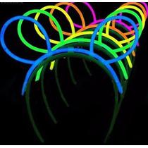 Vincha Luminosa Orejas Quimicas Neon Pack X 10