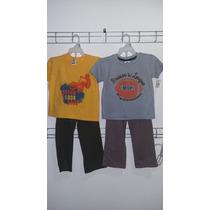 Conjunto Niño Playera Manga Larga C/pantalon Varios Colores