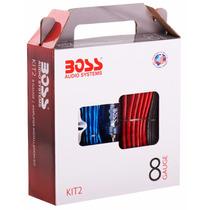 Kit De Cables Boss Audio Systems 8 Gauges Para Potencias