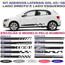 Acessorios Vw Gol G5 G6 Voyage Sport Adesivos Laterais Kit