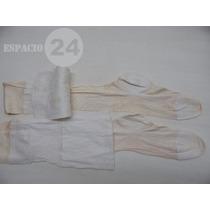 Medias Antiguas Seda/algodón Color Blanco P/portaligas Usada