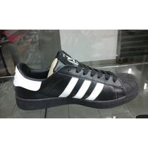 Adidas Super Star Negro Rayas Blancas 43. Somos Tienda.jp