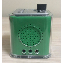 Caixa De Som Portatil Mp3 Pendrive Midi Japan Cor Verde