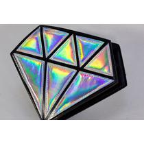 Bolsa Holograma Forma De Diamante Color Plata Tornasol