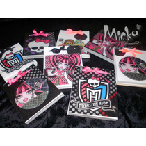 Monster High Anotadores 40 Hojas Souvenir Pack X 10 Oferta!!