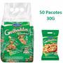 50 Pacotes Amendoim Torrado Sem Pele Grelhaditos 30g
