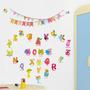Adesivo Decorativo Infantil Alfabeto Das Letras Com Animais