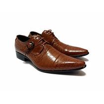 Zapatos Vestir Croco Con Hebilla Priamo Italy [gi000363]