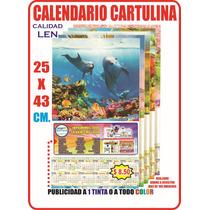 Calendario Cartulina Len 25 X 43 Cm Varilla Exfoliador