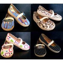 Zapato Para Niña - De Tela - Casuales - 100% Nuevos