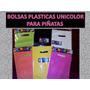 Bolsas Plasticas Unicolores Piñatas Fiestas
