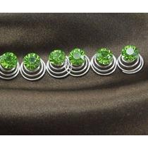 Set De 6 Horquillas Twist Verde Claro