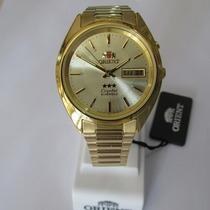 Relógio Orient Automático Masculino Folhado À Ouro