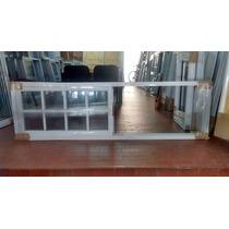 Ventana Aluminio Blanco De 2.00x0.60. Vidrio Repartido