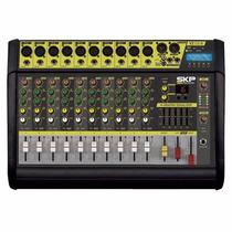 Consola Potenciada Skp Vz-100ll 10 Canales 2000w Usb Bt