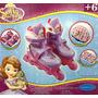 Rollers Princesa Sofia J&j Casco Y Protección Talle 35 - 38
