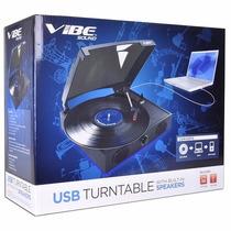 Torna Mesa Vibe Sound Vs-2002-spk Usb Turntable Tornamesa