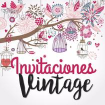 Invitaciones Vintage Bautizo, Vintage Babyshower, Elegantes