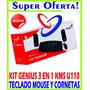 Combo Kit Teclado Mouse Y Cornetas Genius El Mejor!