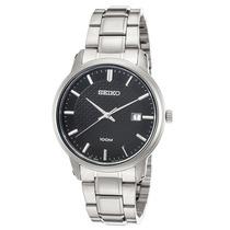 Reloj Seiko Sur195p1 Es Neo Classic Stainless Steel Black