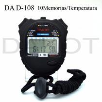 Cronómetro Deportivo Dakot De Mano 10 Memotermómetro Wp D108