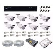 Kit Cftv Dvr Full Hd 1080p Luxvision 8 Ch 8 Câmera Ahd 1.3mp