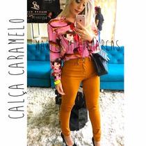 Calça Feminina Hotpants Marrom Amarelada E Vinho Bordo Color