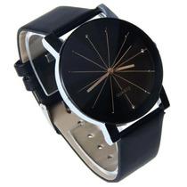 Relógio Pulso Quartz Original Preto - Frete Grátis