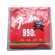 Encordoamento Fender Baixo 4 Cordas .045 | Frete Grátis