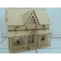 Casa Casinha De Boneca Mdf Polly 32 Moveis Frete Gratis