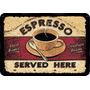 Mdf - Madeira - Placa Adesivada Café Expresso 28x40