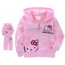 Conjunto Moleton C/capuz Infantil Hello Kitty Menina Outono