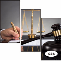 Adesivo Decorativo Escritório Advocacia Advogado Sala Parede